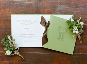Antler-Themed Wedding Invitations by the Writing Horse