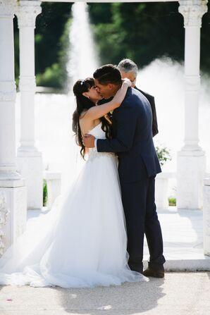 First Kiss Under a Gazebo in Scottsville, Virginia