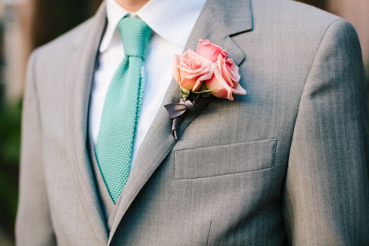 Bright Pink Rose Boutonniere