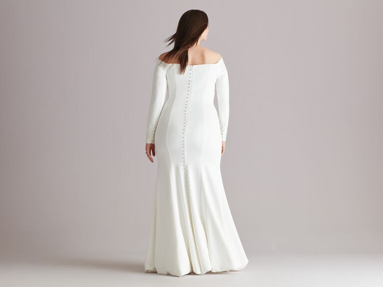 ballroom bustle wedding dress