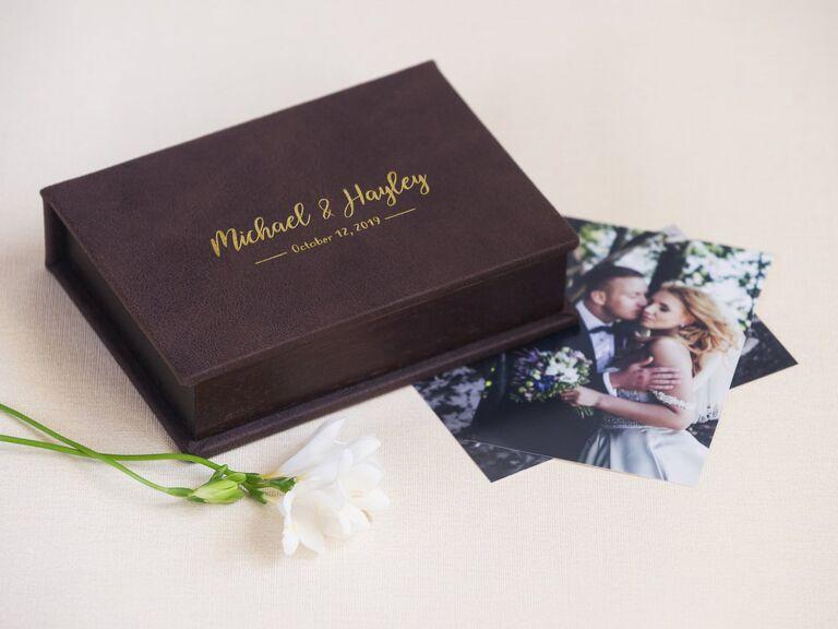 Unbound photo album keepsake box