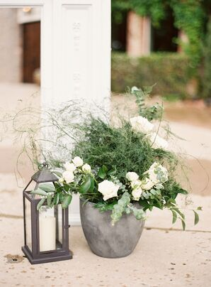 Organic Fern and Eucalyptus Ceremony Arrangements