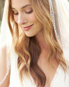 Dareth Colburn Mariah Pearl & Crystal Veil (VB-5008) Ivory Veil