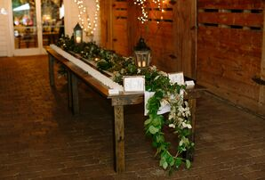Cascading Garland Escort Card Display Table