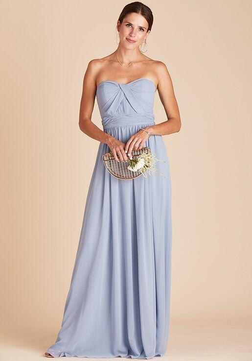 Birdy Grey Grace Convertible Dress in Dusty Blue Sweetheart Bridesmaid Dress
