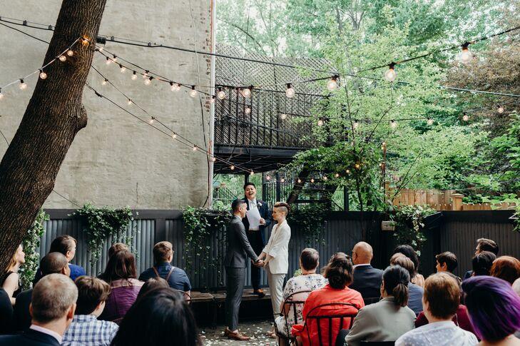 Same-Sex Ceremony in a Brooklyn Backyard
