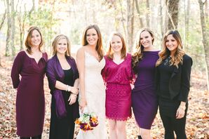 Mixed Jewel Tone Bridesmaid Dresses