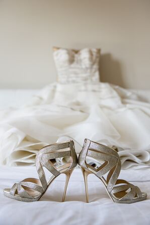 Silver Sparkly Jimmy Choo Shoes