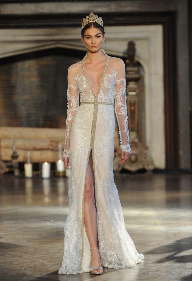 Inbal Dror Wedding Dresses Fall 2015   Maria Valentino/MCV Photo   Blog.theknot.com