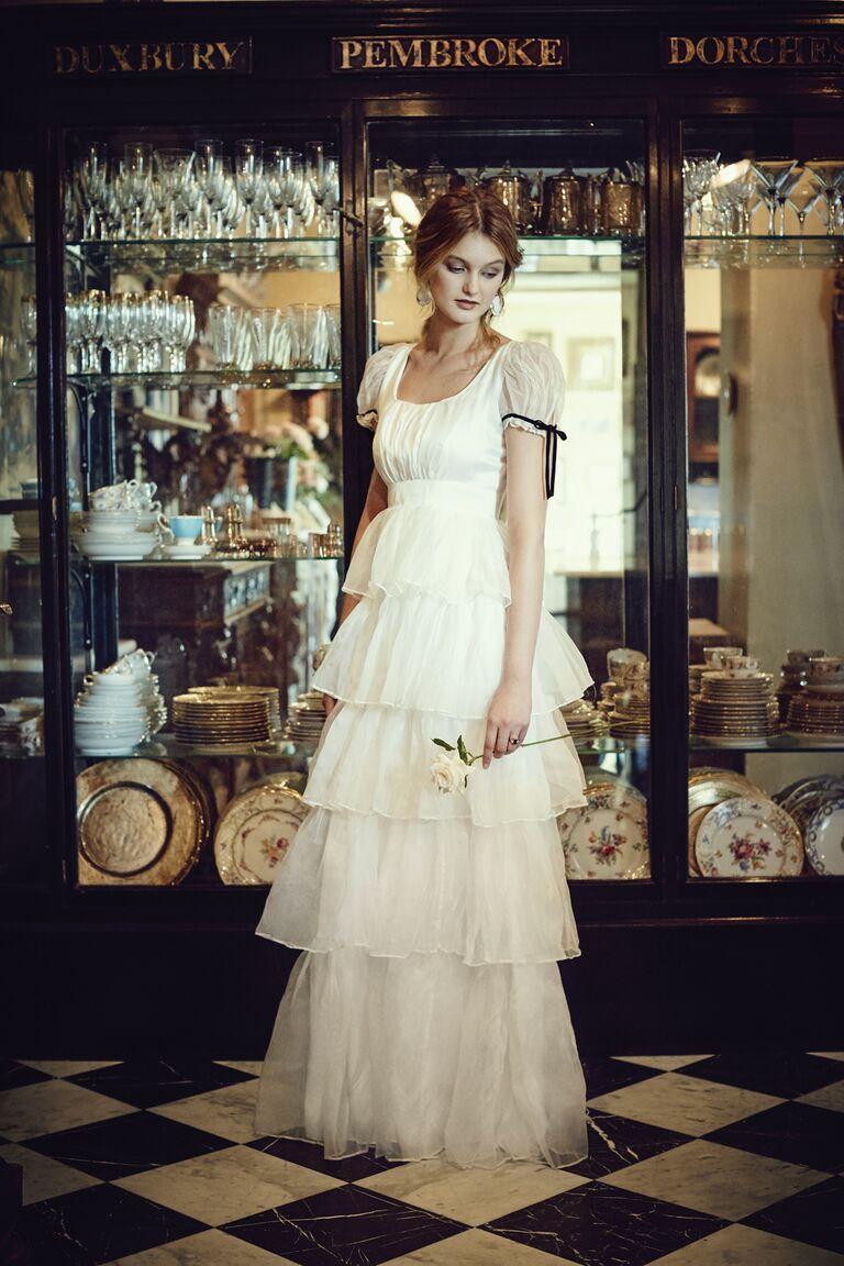 Twigs and Honey organza wedding dress