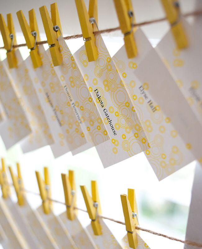 DIY clothespin wedding ideas: Jessica Maida Photography / TheKnot.com