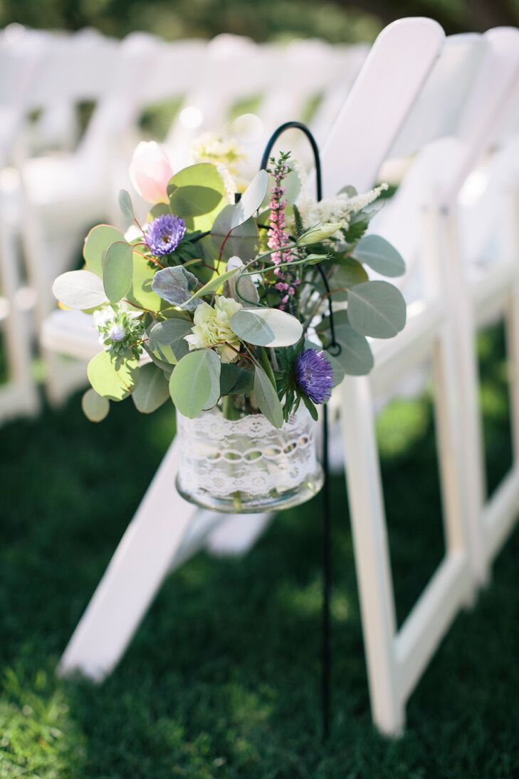 Wildflower and Lace Aisle Markers
