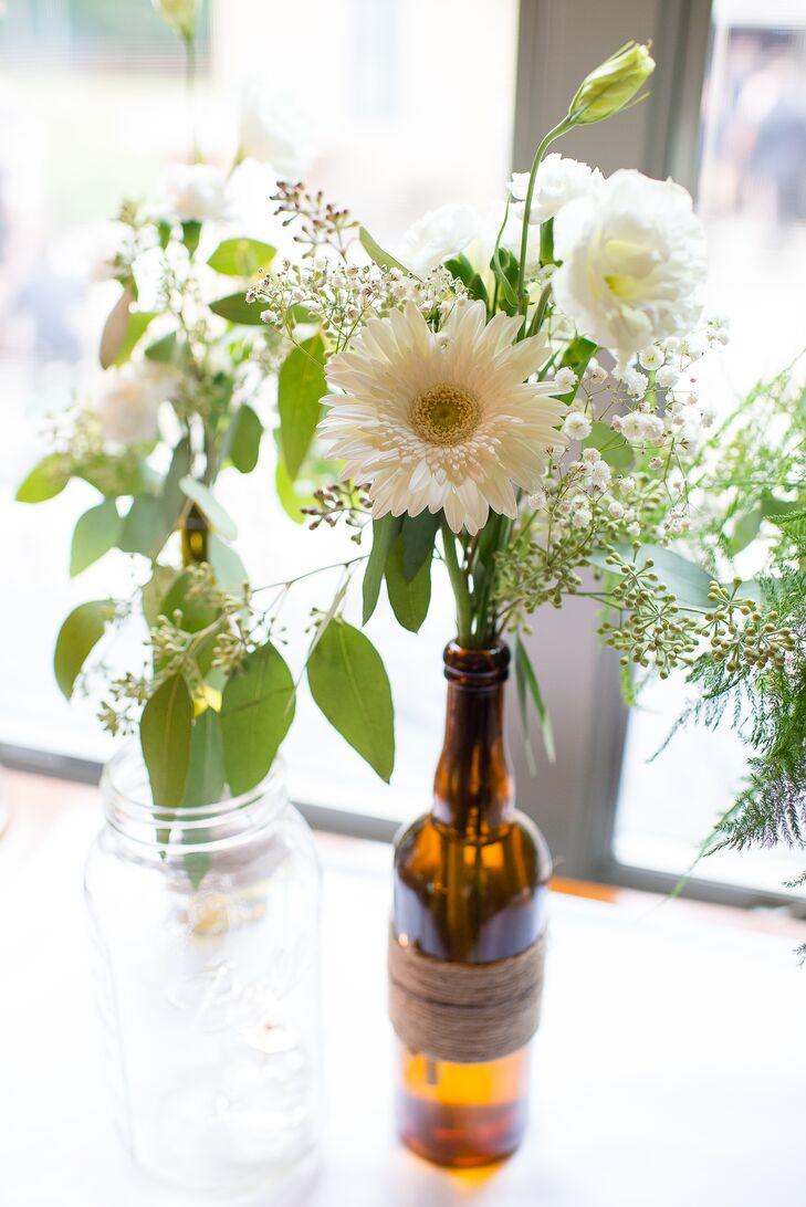 Rustic Wine Bottle Vases
