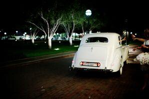 White Vintage Rolls-Royce Grand Exit in Dallas, Texas