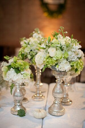 Silver Vase Centerpieces