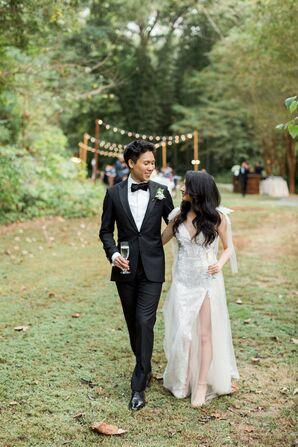 Bride and Groom During Wedding at Cator Woolford Gardens in Atlanta