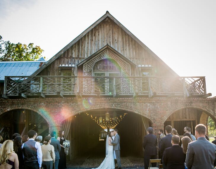 Ceremony Outside of a Barn in Georgia