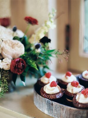 Cupcakes Topped With Whipped Cream