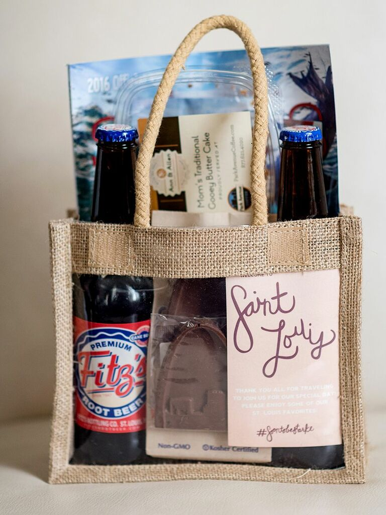 welcome bag for Missouri wedding