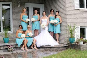 Strapless Turquoise Bridesmaid Dresses