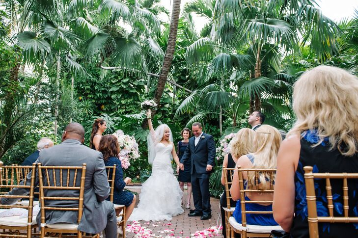 """The couple took their first steps to the Beatles """"All You Need is Love"""" performed by the Key West Second Line Band."""