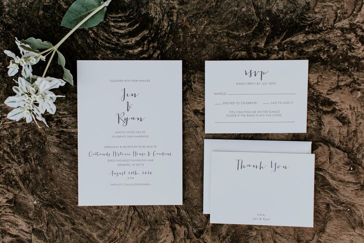 Clean, White Invitations