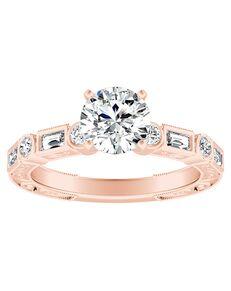 DiamondWish.com Vintage Princess, Round Cut Engagement Ring
