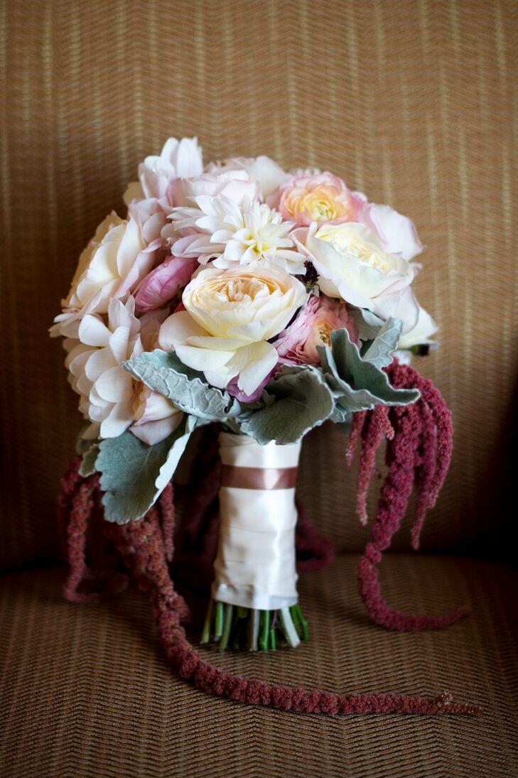 Garden Rose and Amaranth Bridal Bouquet
