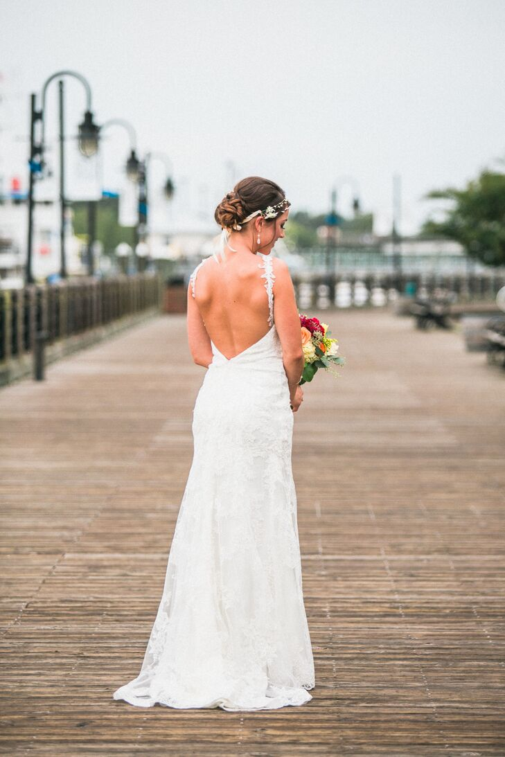 Lace Wedding Gown With Low Back Detail