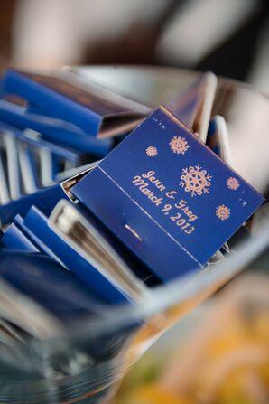 Custom Snowflake Matchbooks