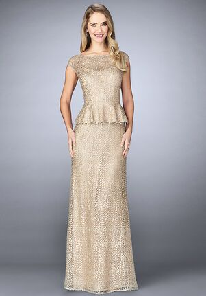 La Femme Evening 24896 Champagne Mother Of The Bride Dress