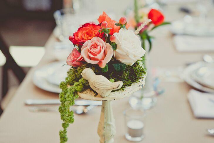 Garden-Style Rose Centerpieces