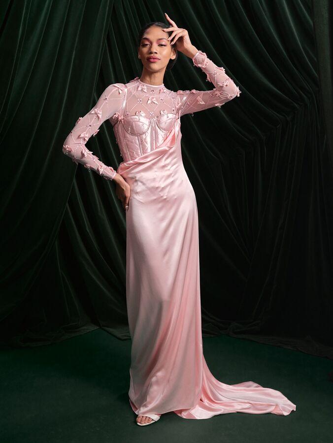 Wiederhoeft pink corset and leotard
