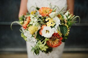Colorful Textured Summer Bouquet