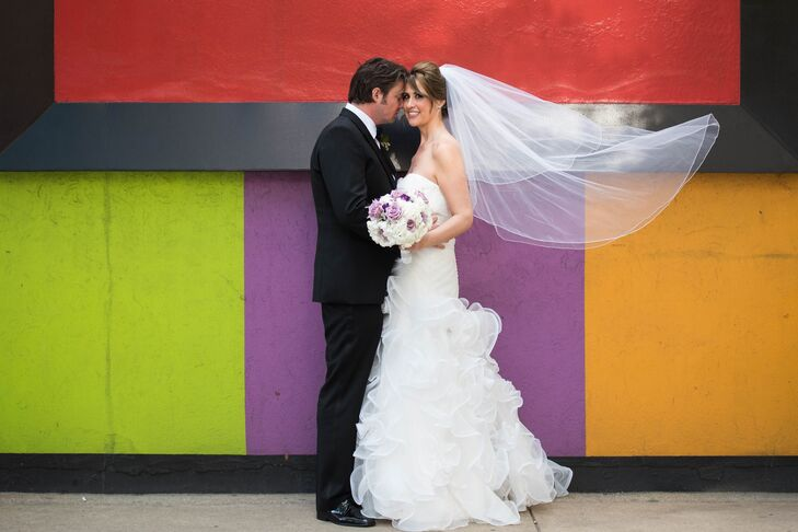 While planning their urban glam wedding in the heart of Chicago, Illinois, Fiorella Verne (32 and a project manager) and Chris Wilson (37 and a manage