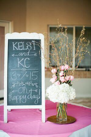 Kelsi and KC DIY Chalkboard Sign