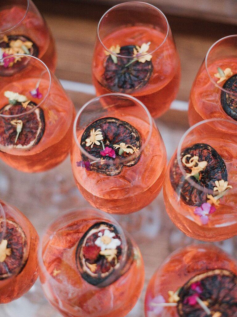 wedding drink ideas aperol spritz