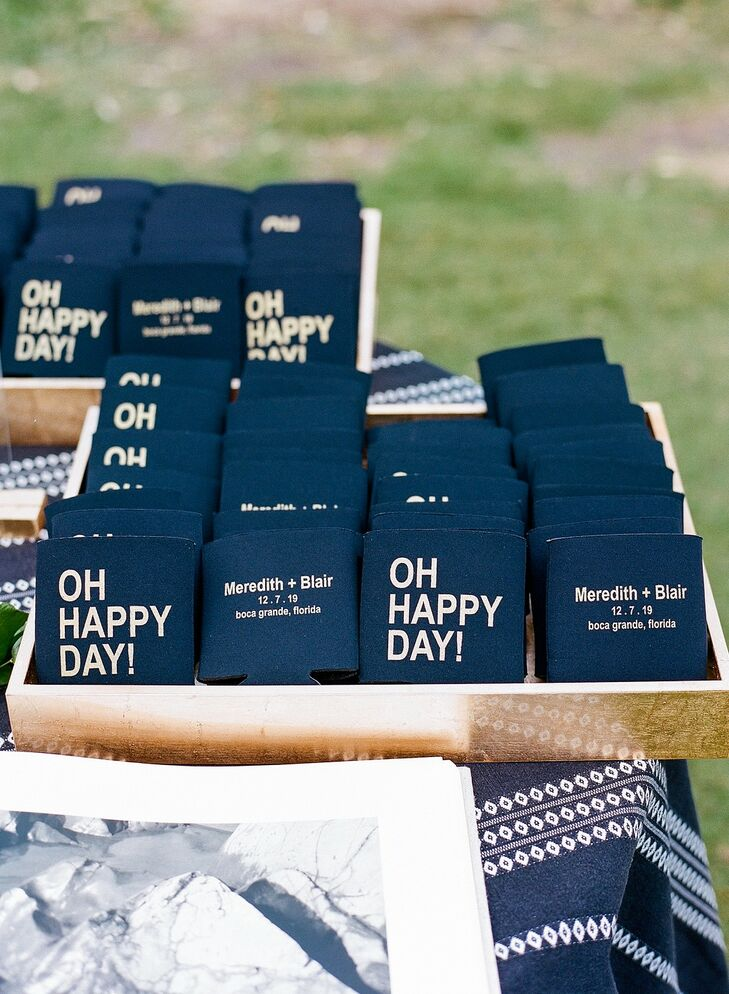 Wedding Koozies at The Gasparilla Inn in Boca Grande, Florida