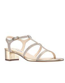 Nina Bridal Gelisa Gold, Champagne Shoe