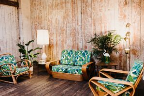 Tropical Lounge Furniture in Vintage Room