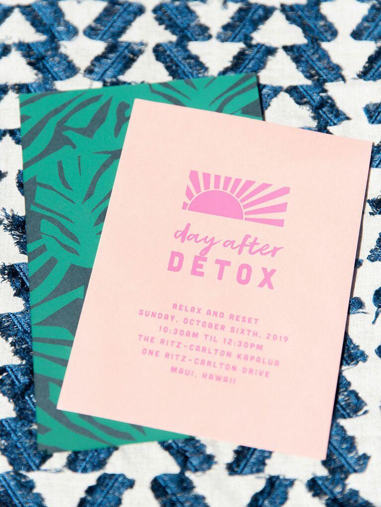Summer wedding Sunday brunch invitation