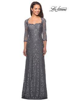 La Femme Evening 26427 Gray Mother Of The Bride Dress