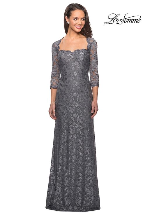 La Femme Evening 26427 Gray Mother Of The Bride Dress
