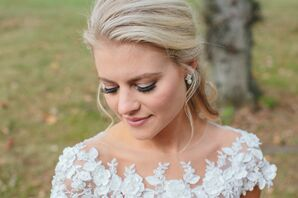 Natural Bridal Makeup with Half-Up Hairstyle