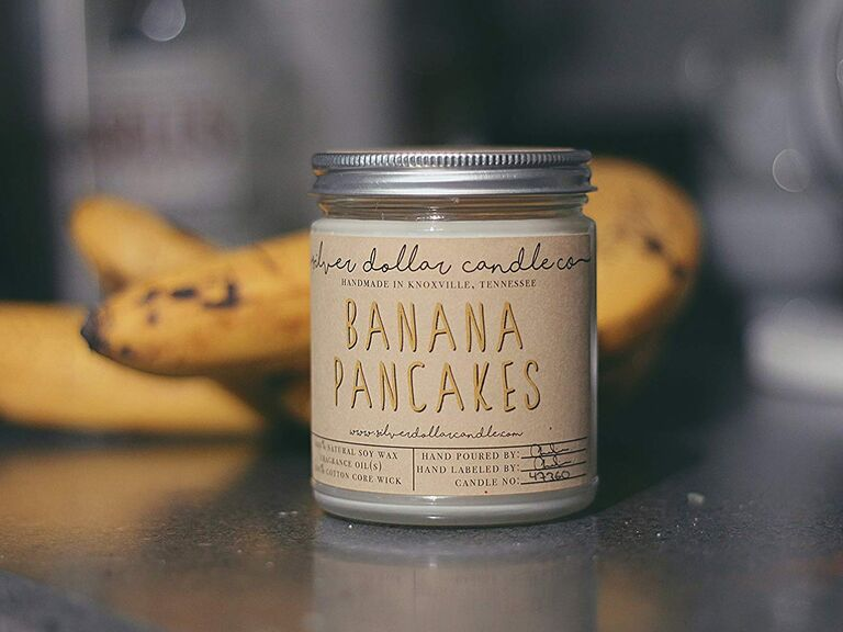 Banana pancakes candle gift for father-in-law