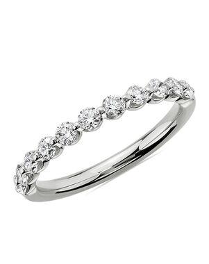 Blue Nile 77667 Platinum Wedding Ring