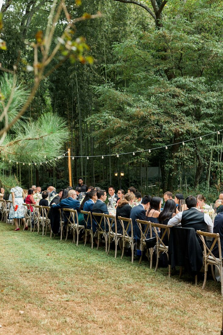 Outdoor Seating Reception at Cator Woolford Gardens in Atlanta