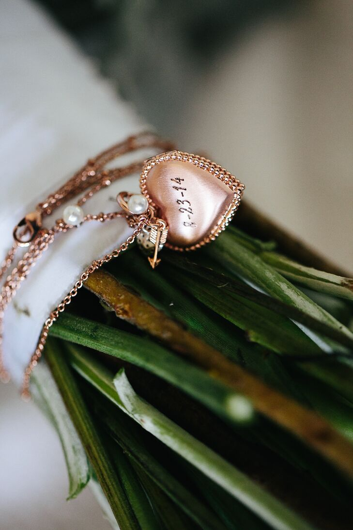 Bouquet Wrap with Gold Locket