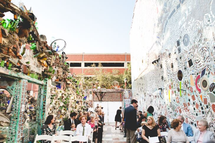 Outdoor Ceremony at The Magic Gardens