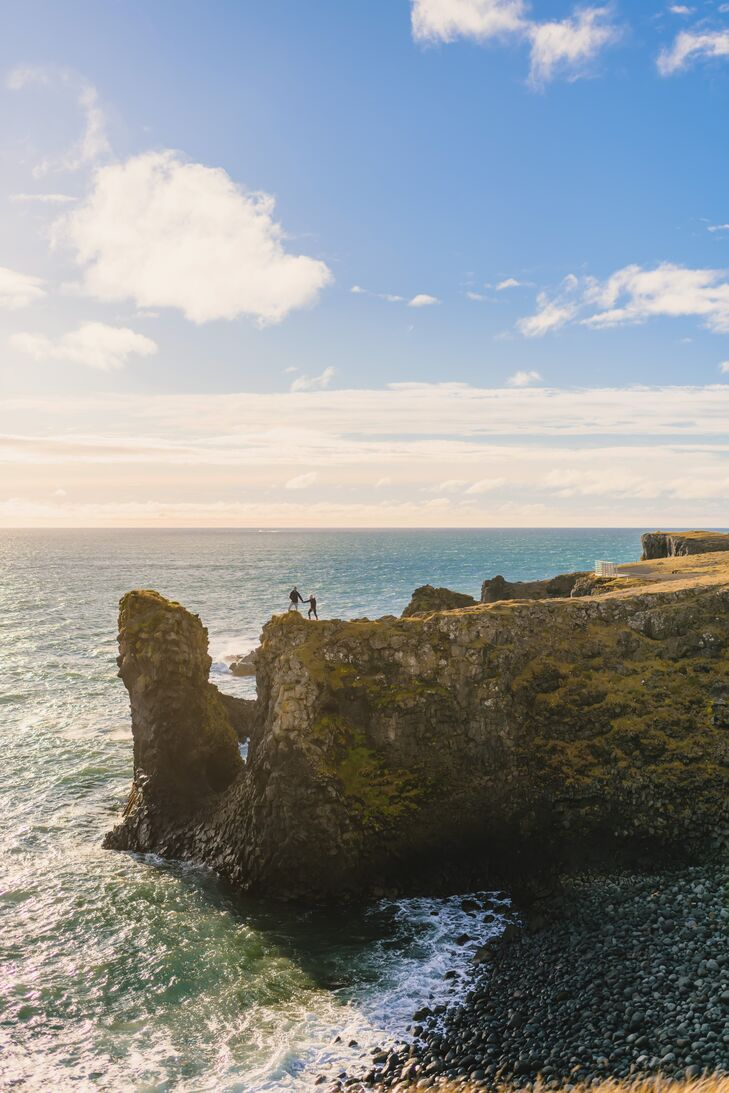 Iceland Waterfront Cliff Photos